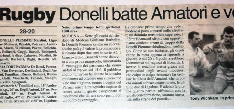 1998: Piemme Donelli batte Amatori Parma